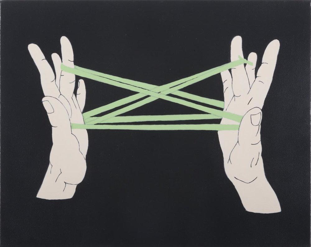 Juego de manos   Acrílico sobre lienzo     40 x 50 cm.2010