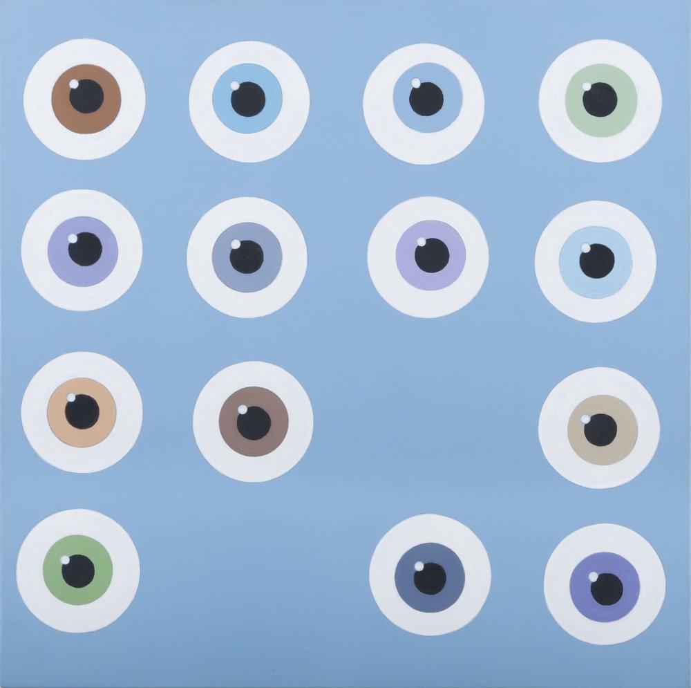 Ojos que ven   Acrílico sobre lienzo     50 x 50 cm.2010