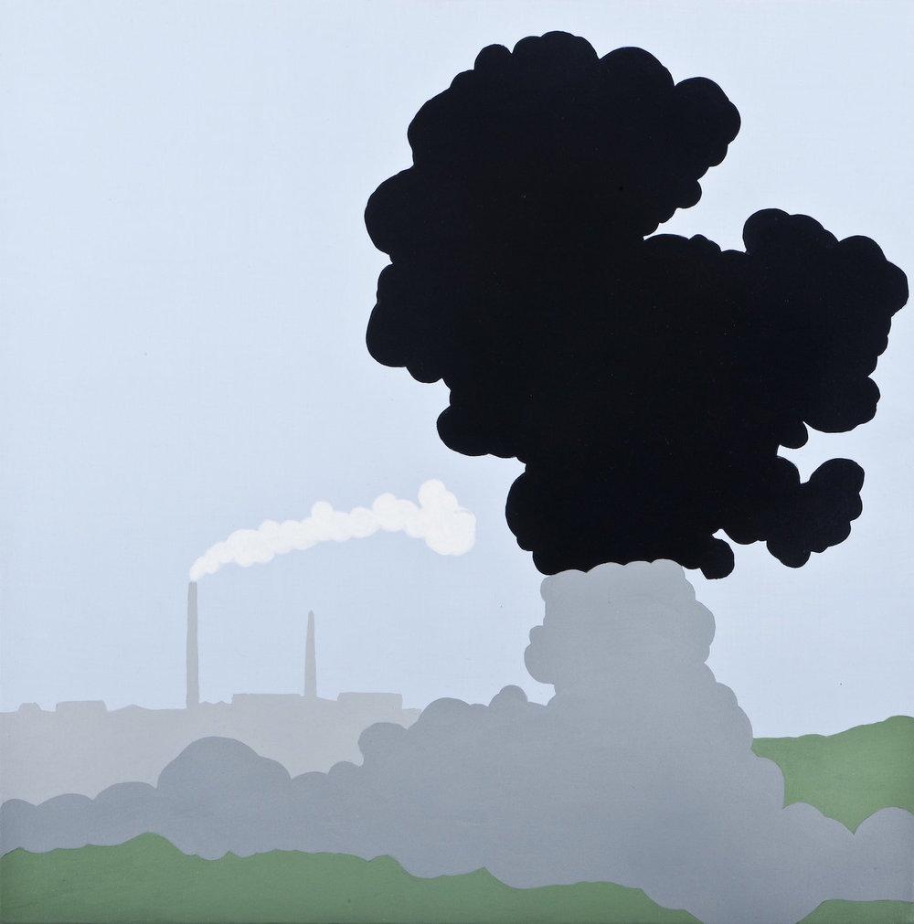 El nuevo paisaje   Acrílico sobre lienzo     50 x 50 cm.2010