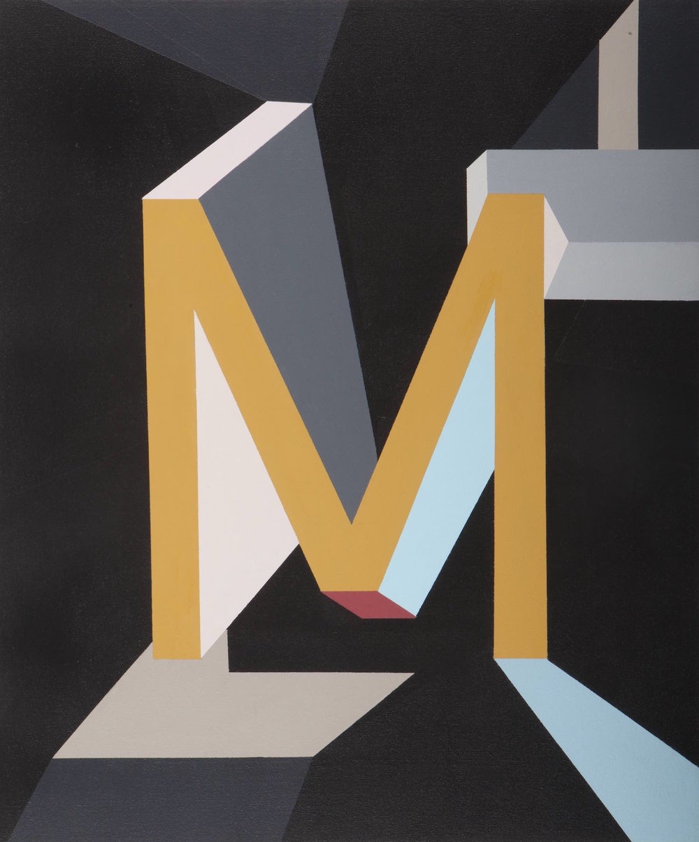 Not an M anymore   Acrílico sobre lienzo     50 x 60 cm.2010