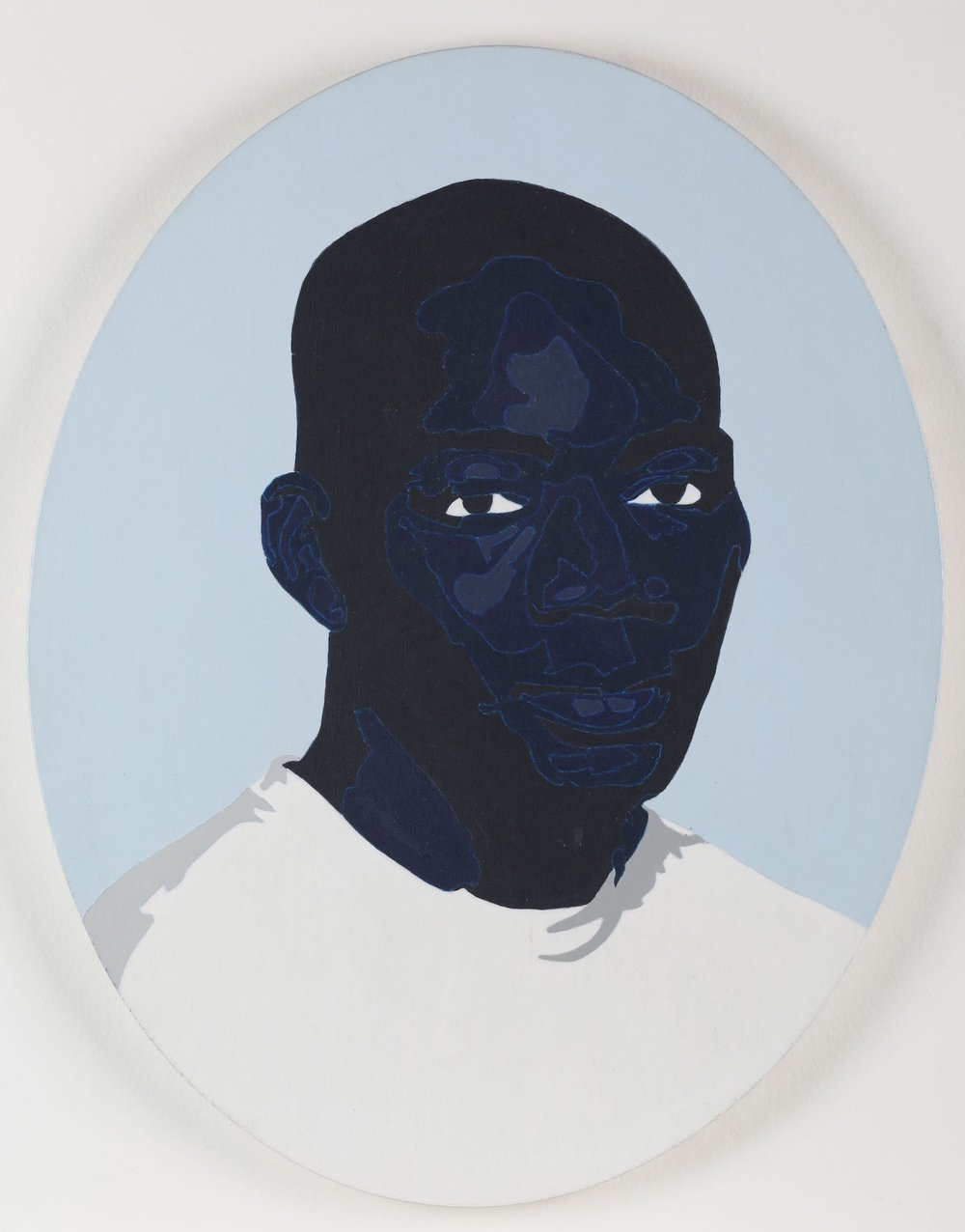 La importancia de sonreír en fotos   Acrílico sobre lienzo     50 x 40 cm.2008