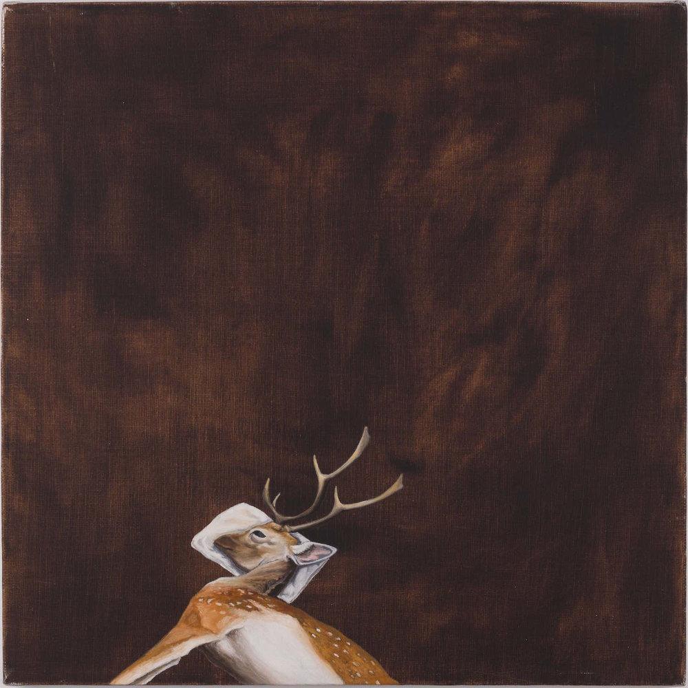 Bambi´s death   Óleo sobre lienzo        40 x 40 cm. 2002