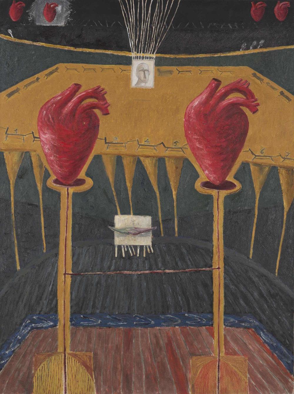 Amor del puro   Óleo sobre lienzo        160 x 120 cm. 1990