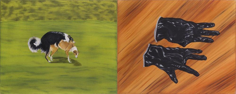 Afecto imperfecto   Óleo sobre lino         41 x 102 cm. 2002