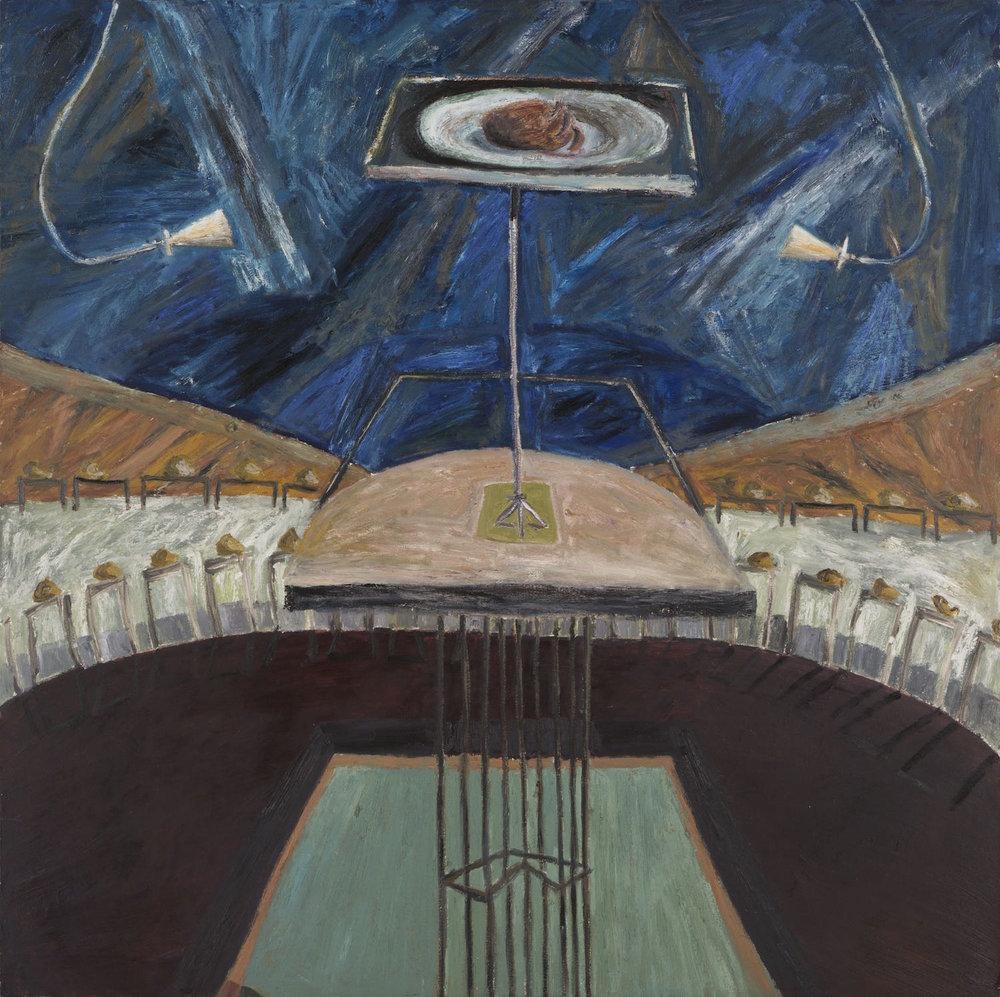 En octubre te amaré   Óleo sobre lienzo        140 x 140 cm. 1990
