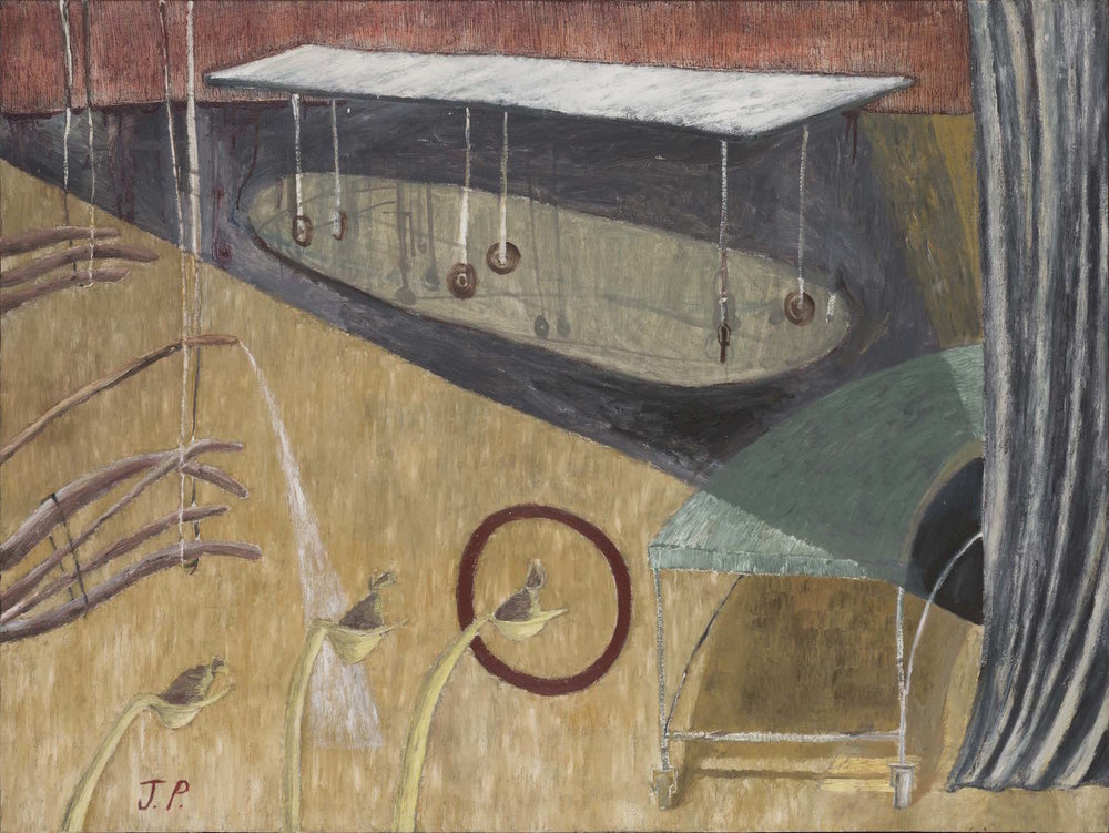 Homenaje a JP   Óleo sobre lienzo        120 x 160 cm. 1990