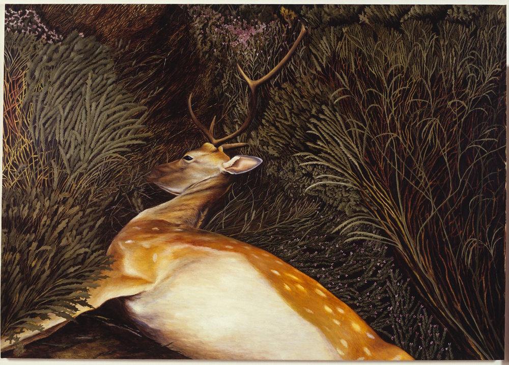 Bambi también muere   Óleo sobre lienzo        112 x 158 cm. 2001