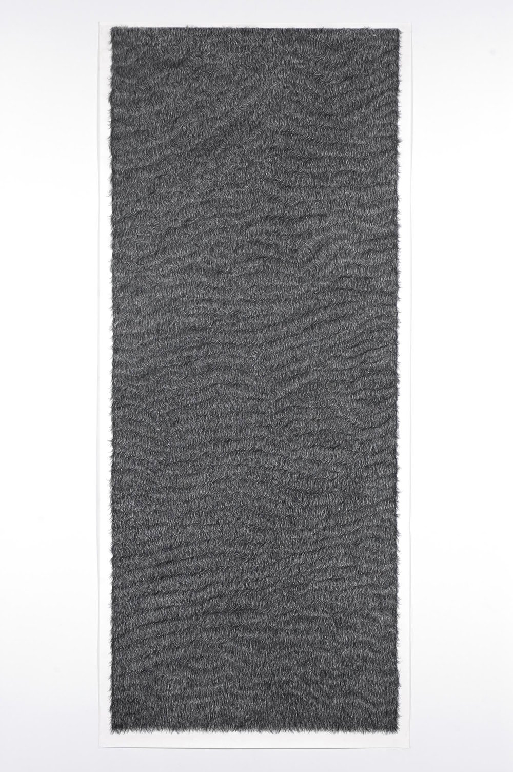 Piel 2   Carboncillo sobre papel 213 x 92 cm. 2004
