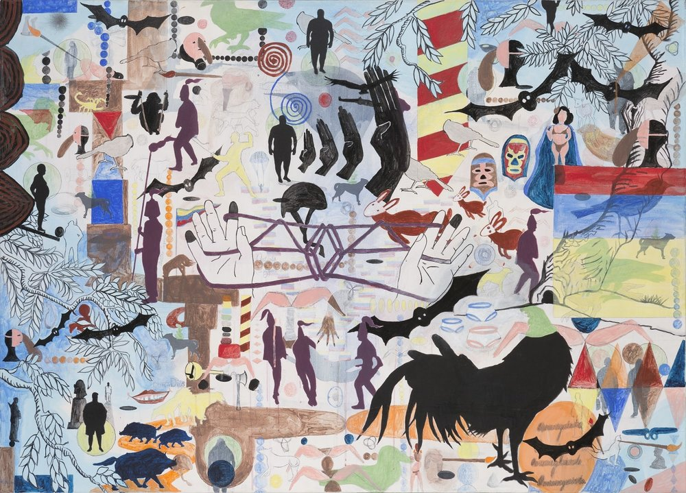 Sin título   Técnica mixta sobre tela, 112 x 158 cm. 2006