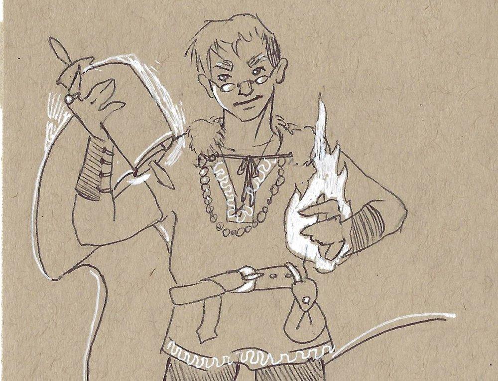 Magic - My Dungeons & Dragons wizard Taldoy Khoth.