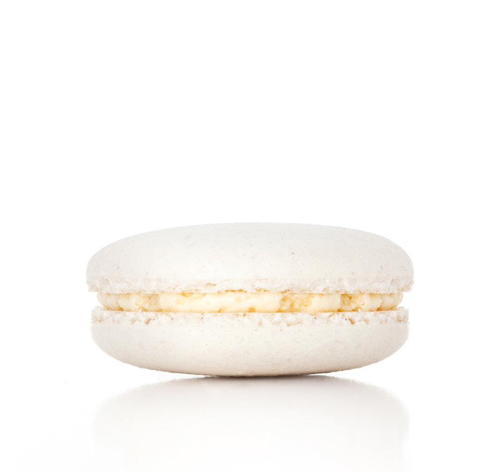 - Vanilla BeanWith Madagascar vanilla buttercream, this classic macaron bursts with flavor