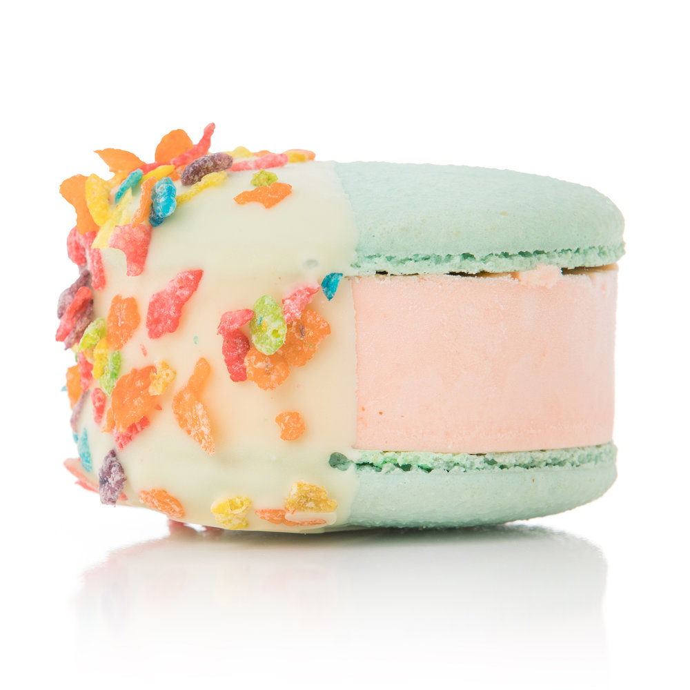 - Cereal MilkFruity Pebbles™ infused ice cream with a crunchy white chocolate shell
