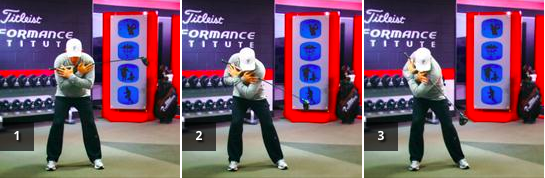 Sweep the Dust - To help get into a right shoulder turn so you are not too steep