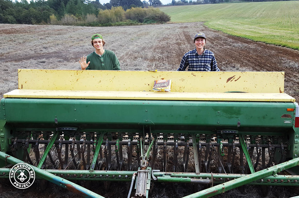 Garnett family members working the land.