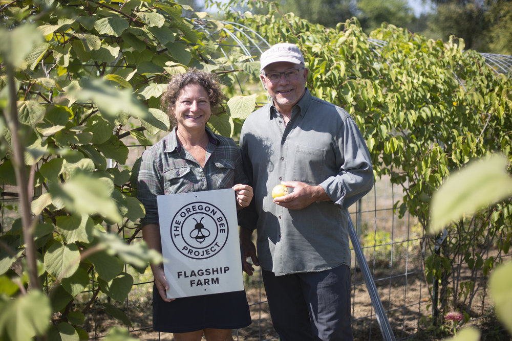Tony Soter and farm manager, Nadine Lew.