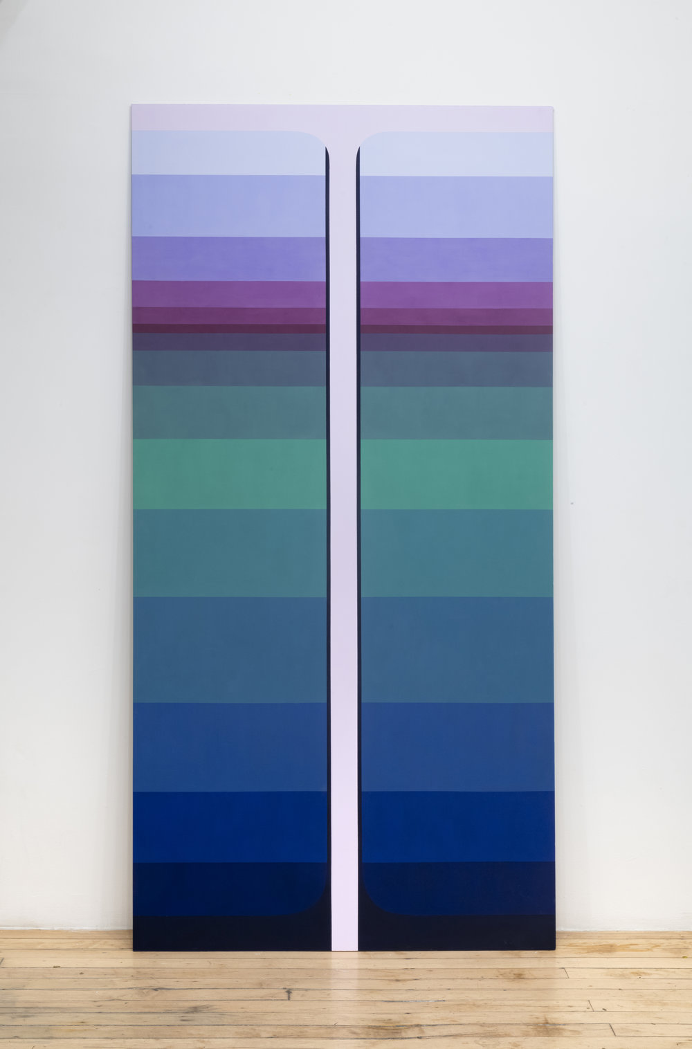 10 - Double Pour, 2018, KT Color on Sheetrock, 8x4 feet.jpg