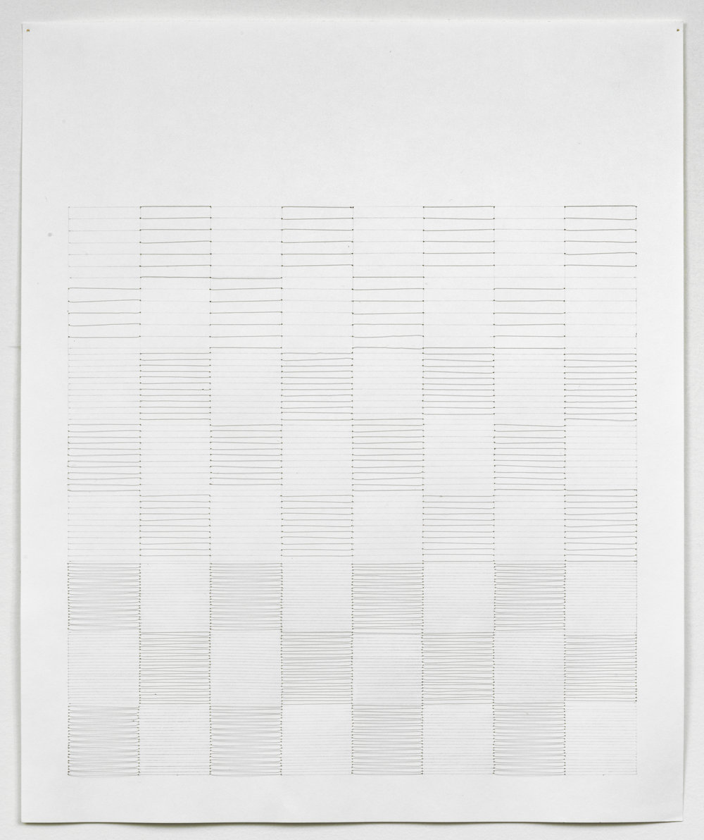 #5, 2008, 17x14, nylon thread, pencil, paper, 17x14.jpg