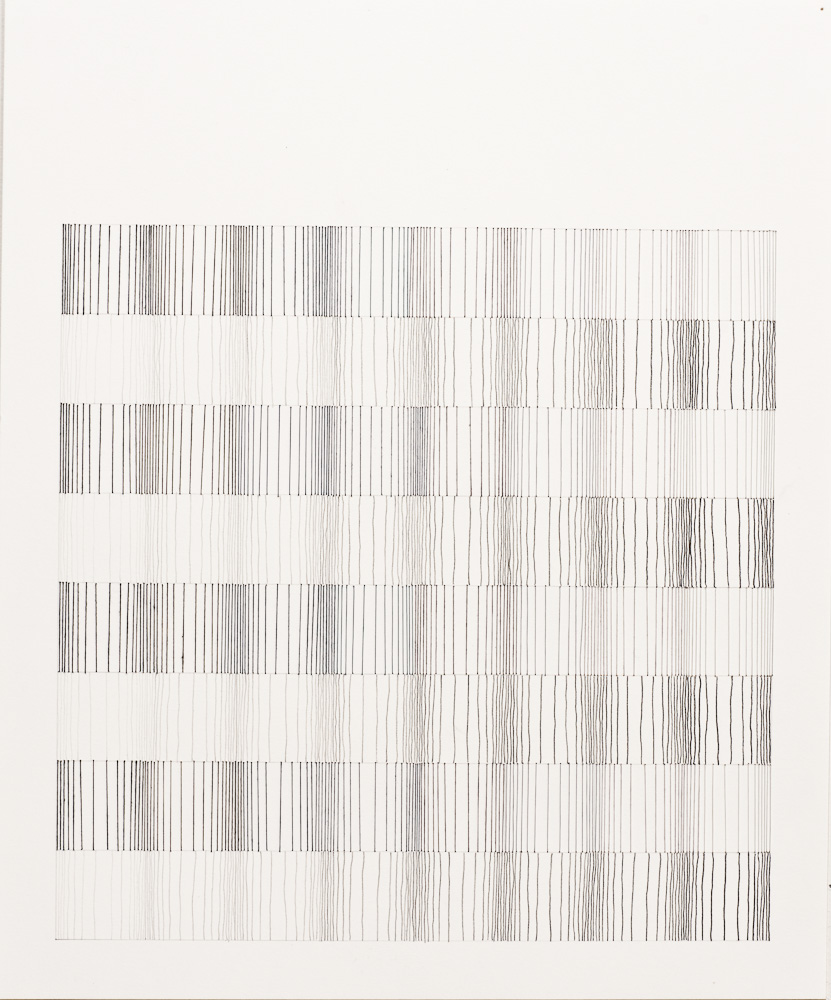 #66 (Vertical Grey) 2011, Thread, Pencil, paper, 17x14.jpg