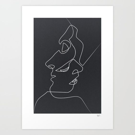 Close Noir Art Print - Society 6