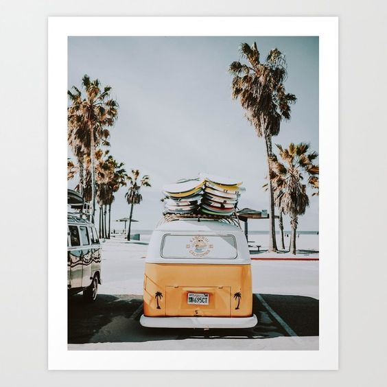 Let's Surf/Venice Beach, California Art Print - Society 6