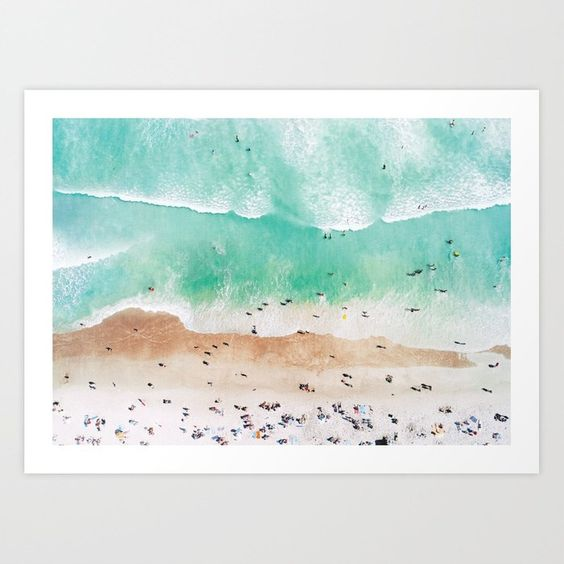Beach Mood Art Print - Society 6
