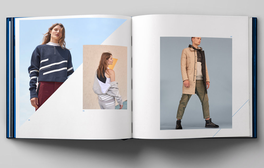 Men's and women's launch collection lookbook