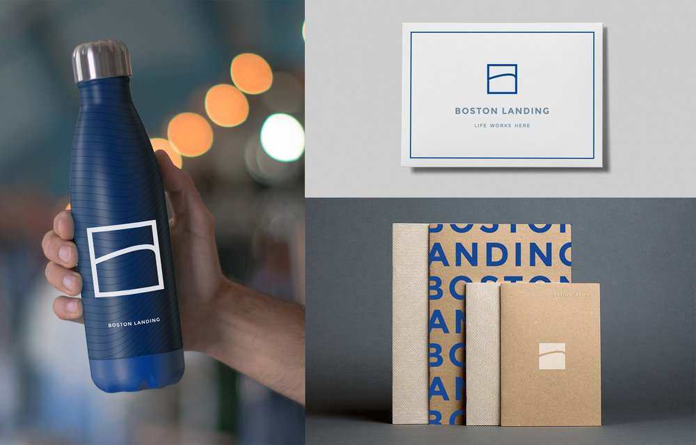 Boston Landing brand collateral system