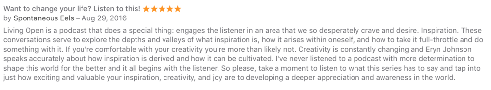 Inspirational mystical podcast praise