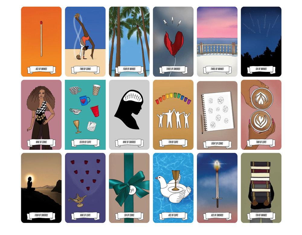 Major Arcana tarot cards of Krystal Banner's Kaleidadope Tarot