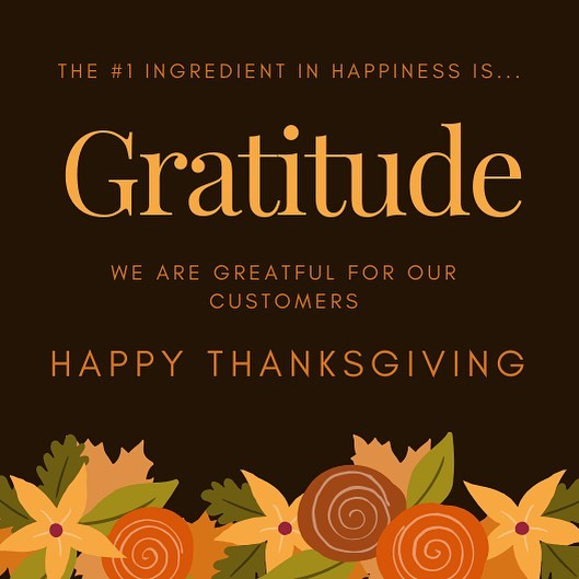 Happy Thanksgiving everyone! Enjoy your loved ones!
