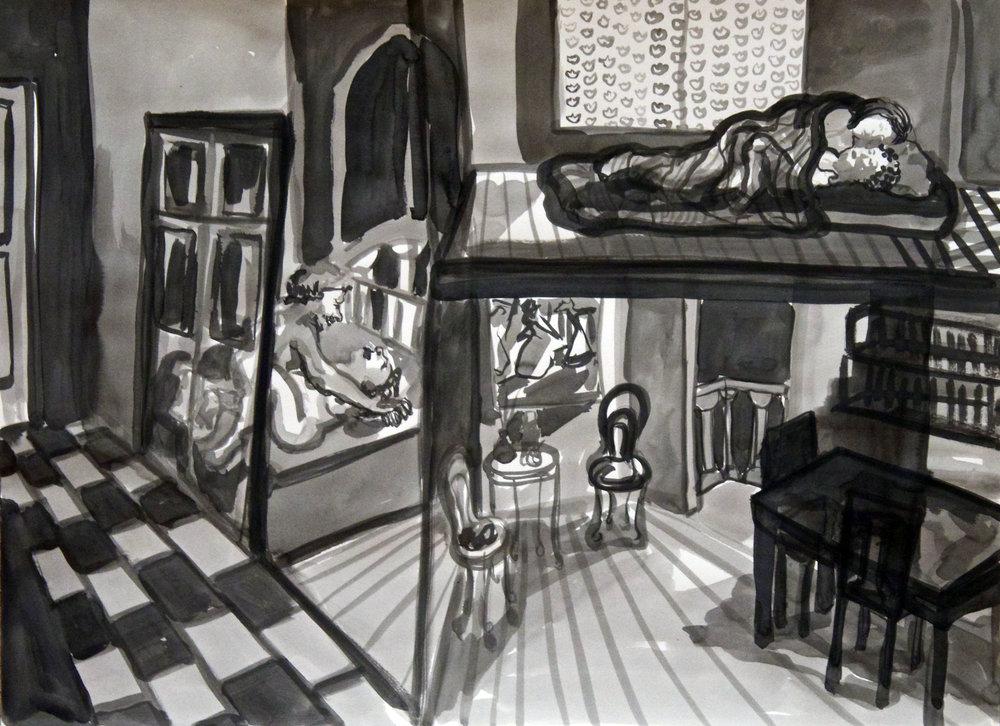 Casa de noche (The house at Night)