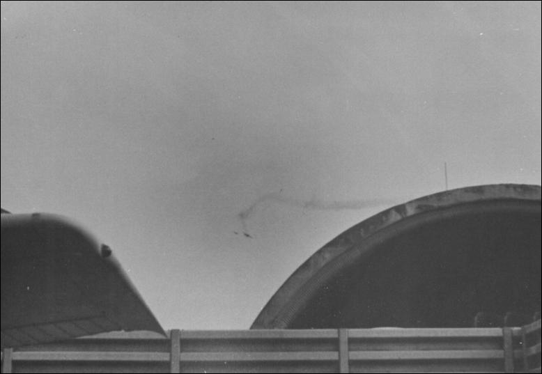 C-119K shot down by SA-7 SAM above the TSN runway on April 29 at 0700 hrs.