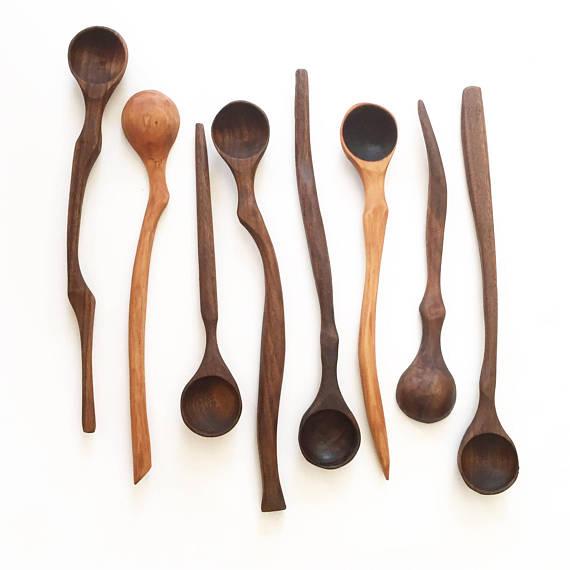 Handmade wooden spoons by Collin Garrity