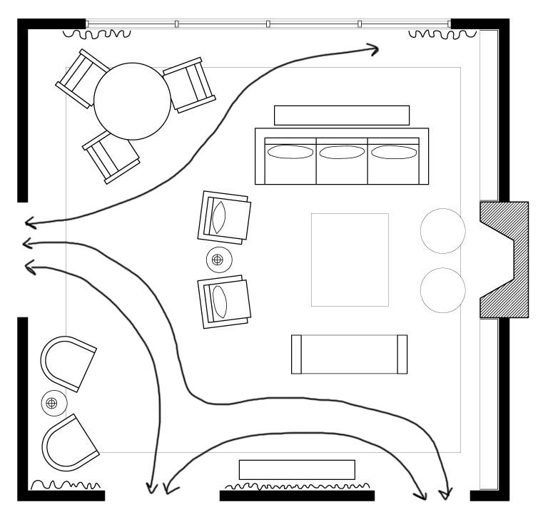 Living Area Floor Plan by Rebecca Miller