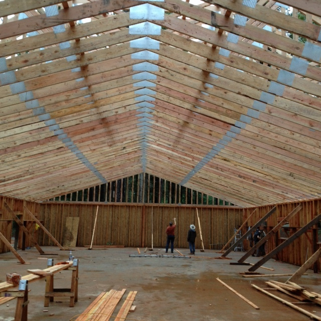 Interior view of trusses.JPG