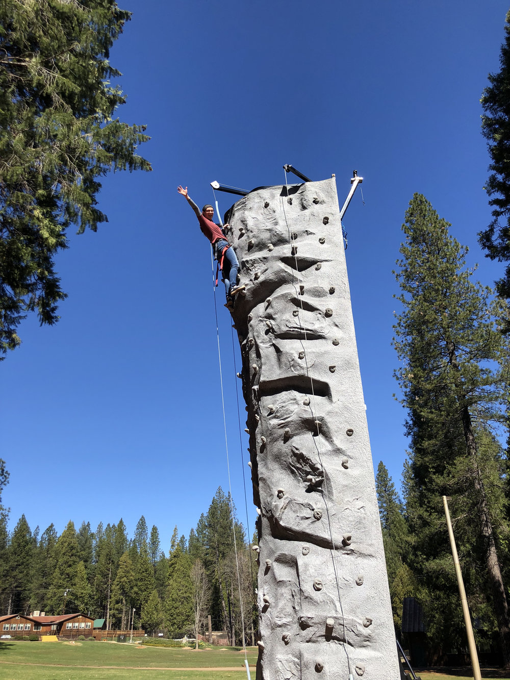 Climbing Wall - Spring is here and Summer is right around the  corner!! We would like to introduce you to our new Climbing Wall!!!!  Can't wait to have our campers here!!!!