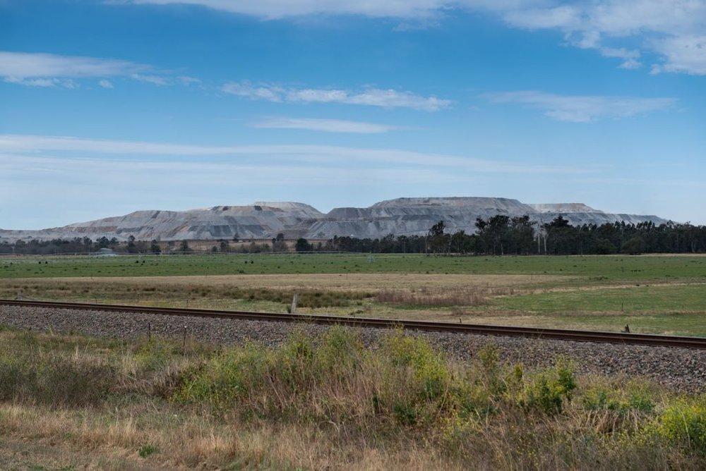 Mountains of Slag frame farmland in the Hunter Valley. photo Alex Wisser