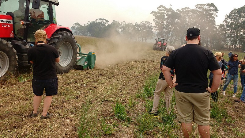The Soilkee Renovator in action on Niels' farm