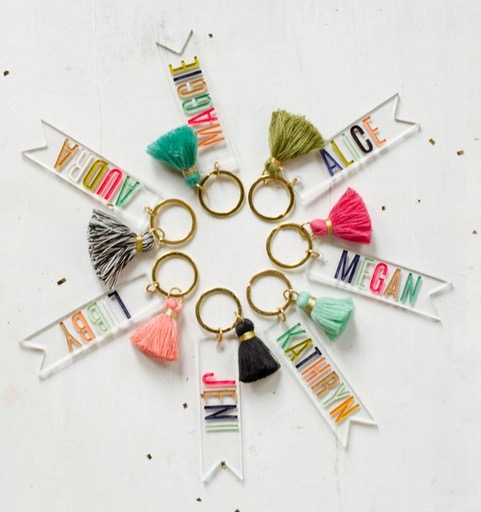 Personalized Tassel Name Keychain