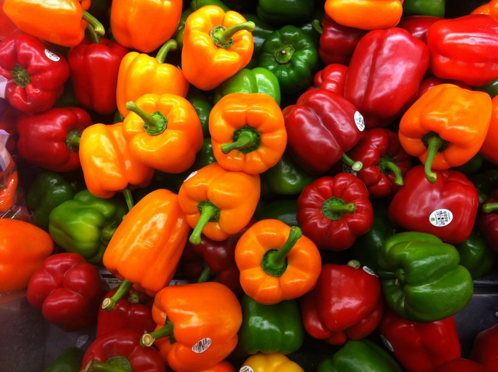 NZ/AUS - Capsicum USA - Bell Pepper Italy - Peperone/Peperoni