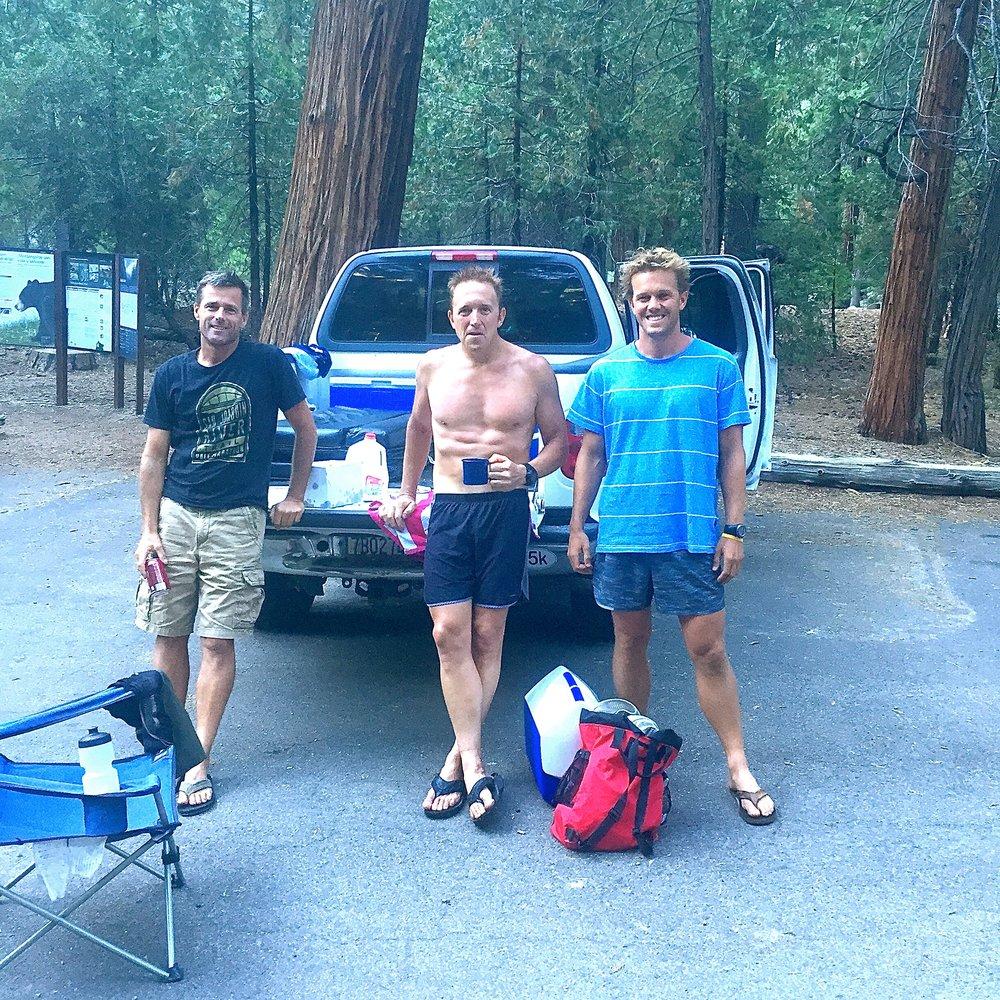 (Randy, Hickey, Me) Post Rae-Lakes Loop:Unbelievable day.Summer 2015