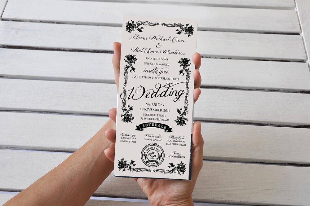 Wedding Invitation Design  DL card