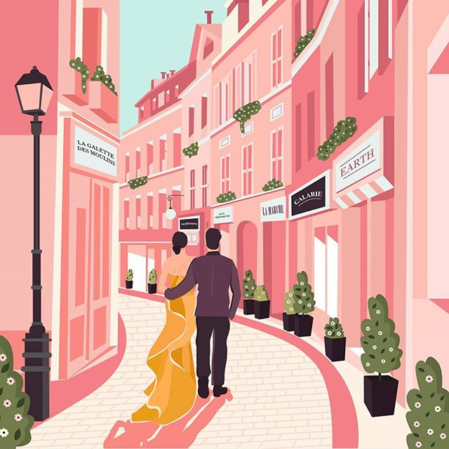 Details from the romantic Illustrations for The Q experiences - a travel company who believes in living through travel experiences which create great stories  Check out the romance webpage from the Q - Link in Bio  http://www.theqexperiences.com/romance  #illustration #ballpitmag #uiux #webdesign #gooddesign #simplycooldesign #romance #inlove #paris #eiffeltower #picame #life #abduzeedo #luxurytravel #love #branding #handdrawn #designsheriff #adobeillustrator #waccom #art  #illustree #gfxmob #couple #travel #handinhand #heydesign #deepinlove #luxurytravel