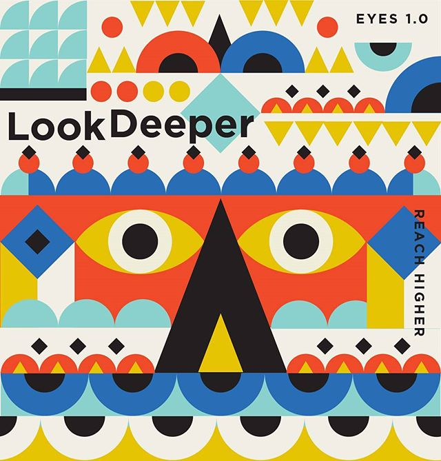 Look Deeper. Reach Higher. FRIDAY VIBES  #friday #lookdeep #yummy #graphiczone #graphics #bold #eyes #shapes #geometric #illustration #high #simplycooldesign #fridayvibes #adobe #print #shapegraphic #gfxmob  #designinspiration #designspace #triangles #pattern #illustree #ballpitmag #picame #designsheriff #itsnicethat #simple #reach #graphiccreativity #graphicgang