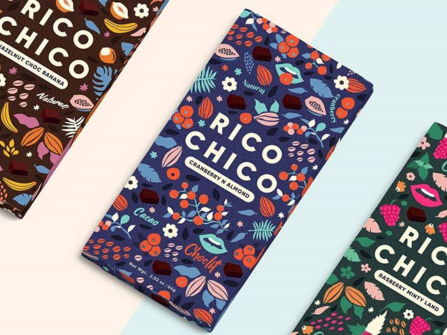 Rico Chico - A Chocolit land Packaging design for a chocolate brand that captures rich cacao and natural fruity flavours. Here is a mouthwatering rasberry and mint flavoured chocolate which just melts into your mouth✌️ #designinspiration #designspace #designsheriff #simplycooldesign #spring #fox #floral #march #calender #designmania #designform #abduzeedo #dailyinsta #typelove #typeinspire #gfxmob #artist #creator #flowers #geometric #adobe #illustration #illustree #graphics #heydesign #graphicozane #illustrationartist #happy #lively #thedoubletapped
