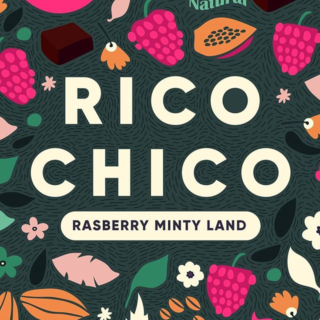 Rico Chico - A Chocolit land Packaging design for a chocolate brand that captures rich cacao and natural fruity flavours. Here is a mouthwatering rasberry and mint flavoured chocolate which just melts into your mouth✌️ #chocolate #packagingoftheworld #thedieline #gooddesign #simplycooldesign #fruits #ricochico #designinspiration #abduzeedo #packagingdesign #branding #handdrawn #dribble #designsheriff #adobeillustrator #waccom #chocolates  #illustree #illustration #healthy #sweet #goodies #happy #gfxmob #foodphotography #food #cacao #dark #bestofpackaging #heydesign