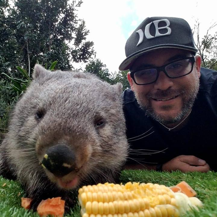 Fulfilling my dream of meeting a wombat! - Australia Zoo, 2017