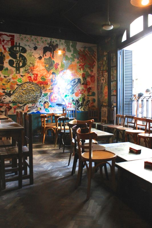 The pub/ restaurant where the owner once asked some of the artists to paint his restaurant with their arts and the owner gives some space on the backside of this place as a gallery where they can showcase their arts.