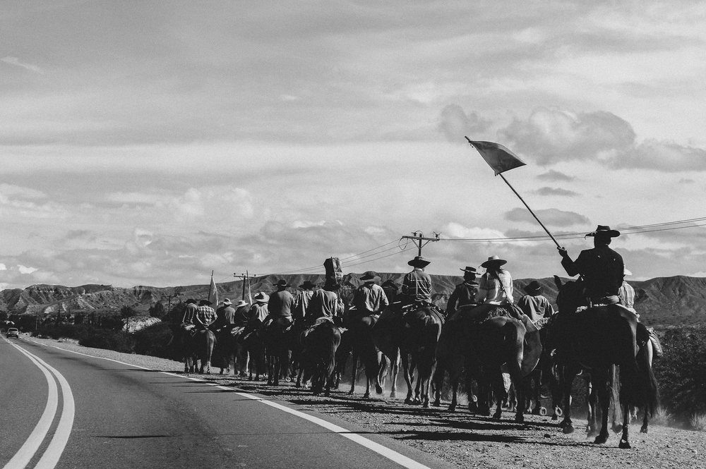 Indigenous Cowboy on their way. Jujuy Area, Argentina 2015.