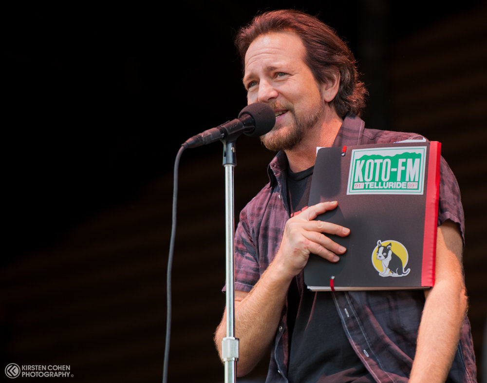 Eddie Vedder of Pearl Jam during their 2016 performance.